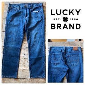 Lucky Brand 410 Athletic Slim Mens Blue Denim